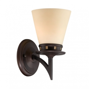 Lite Source Erina 1 Light Wall Lamp in Aged Bronze