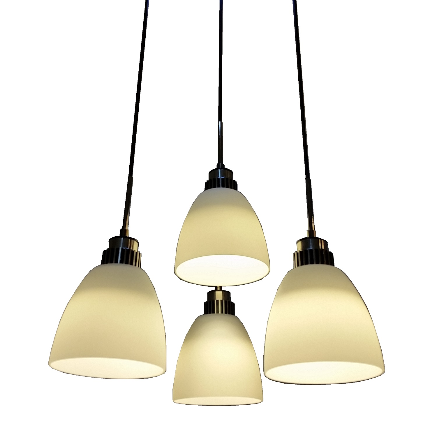 Hanging Lamp Light: 4 Light LED Hanging Pendant Lamp In White Shade L