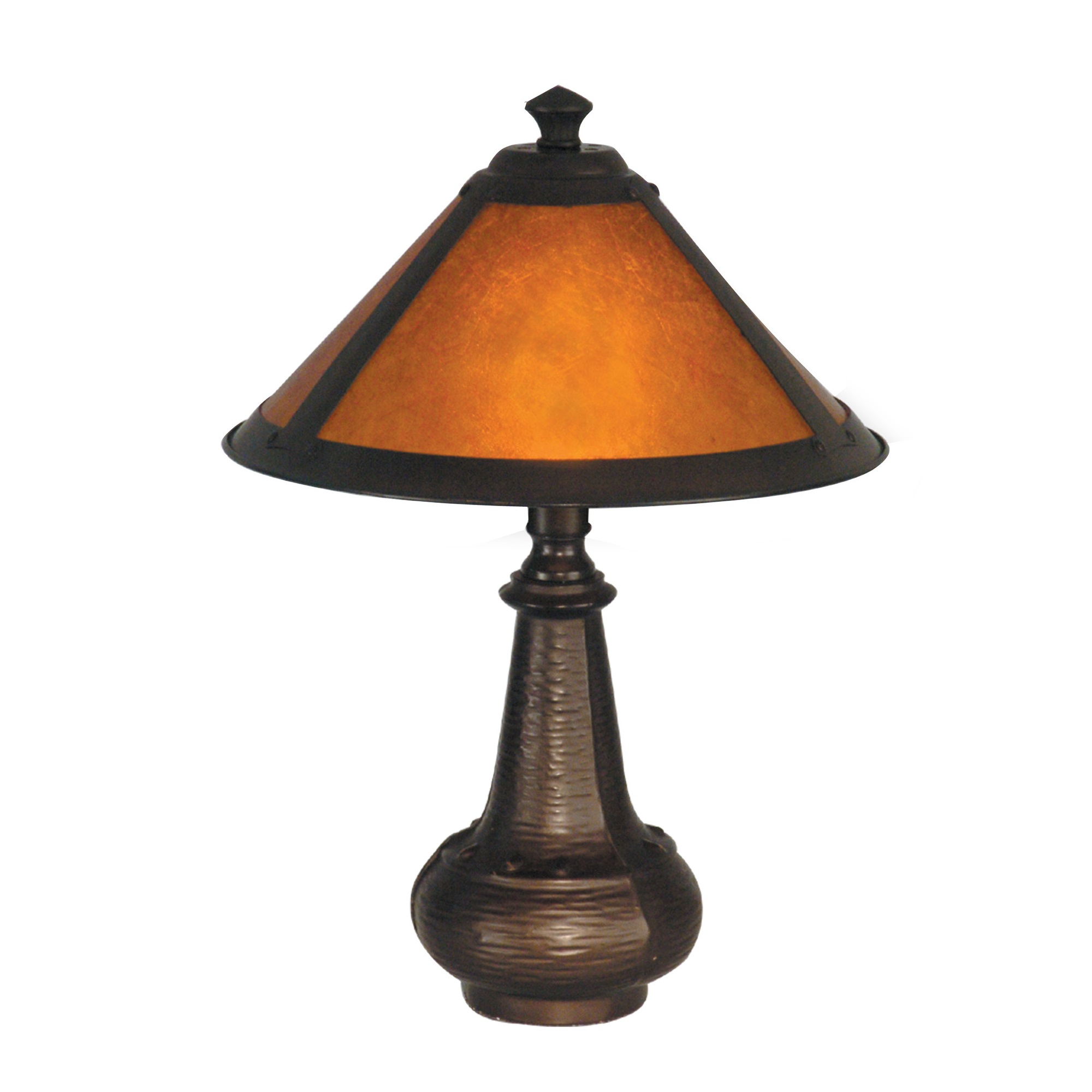 Antique Silver Table Lamp 24 Cream Accent Lighting: Dale Tiffany Hunter Mica Accent Table Lamp L Brilliant