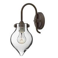 Hinkley Lighting Congress 1 Light Wall Sconce In Oil Rubbed Bronze - 3172OB/CL