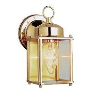 TransGlobe Lighting Outdoor 1 Light Wall Lantern In Antique Brass