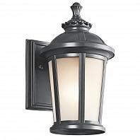 Kichler Ralston 1 Light Outdoor Classic Wall Sconce In Black