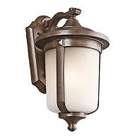 Kichler Gadsden 1 Light Outdoor Wall Sconce In Brown Stone