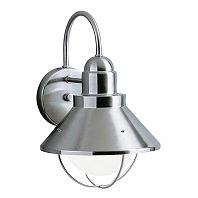 Kichler Lighting 9022NI Seaside 1 Light Outdoor Wall Lantern in Brushed Nickel
