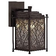 Canarm Bombay 1 Light Outdoor Wall Lamp In Oil Rubbed Bronze