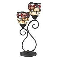 Dale Tiffany Fall River 2 Light Table Lamp