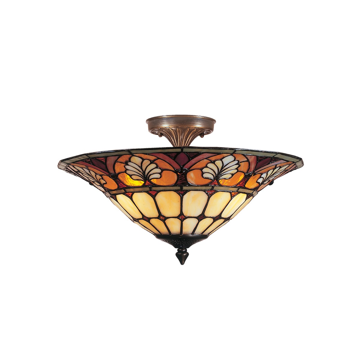 Dale Tiffany Dylan Tifffany Flush Mount 3 Light Ceiling